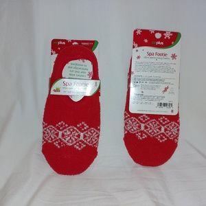 Accessories - Set of 2 Spa Footie socks